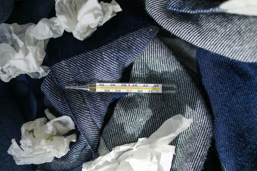 Canva - Thermometer on Blanket