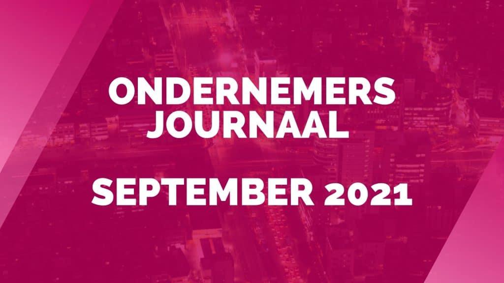 Ondernemersjournaal september 2021
